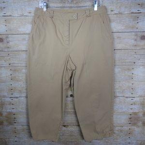 Talbot Classic Rise Capri Chino Pants - 14 Petite